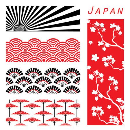 Japan Behangachtergrond Versieren Ontwerp Cartoon vector