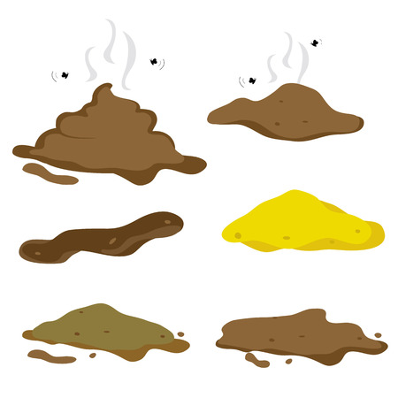 Poop Fecal Cartoon Vector