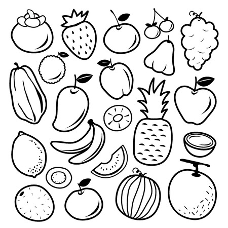Vruchten-pictogram Vector