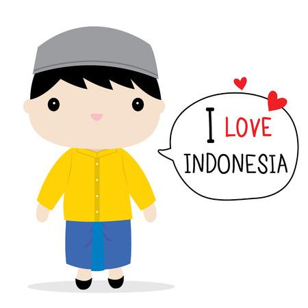 trouser: Indonesia Men National Dress Cartoon Vector