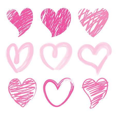 Sweetheart I Love You Valentine Heart Brush Cute Cartoon Vector Ilustracja