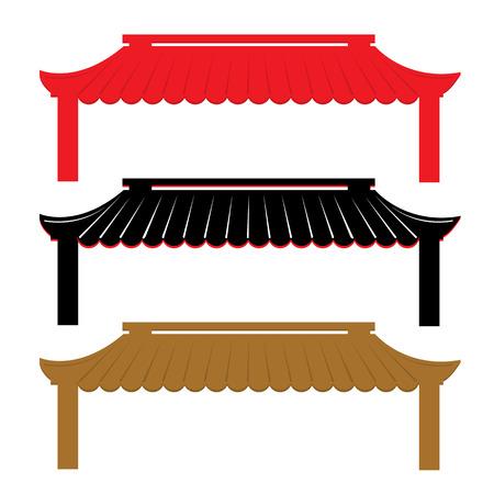 屋根の伝統的な中国のベクトル  イラスト・ベクター素材