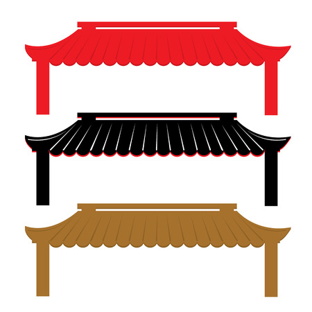 Roof Traditional China Vector Vettoriali
