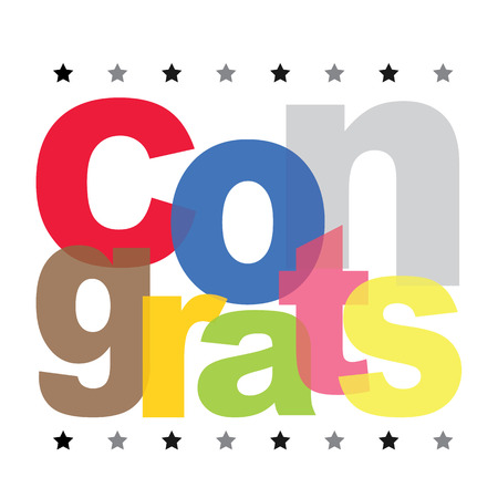 Congrats Text Vector Design