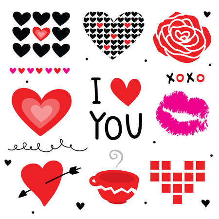 cute love: Valentine I Love You Sweetheart Cute Cartoon Vector Illustration