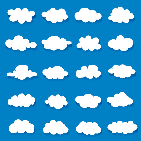 cloud icon: Vector illustration of clouds collection Illustration
