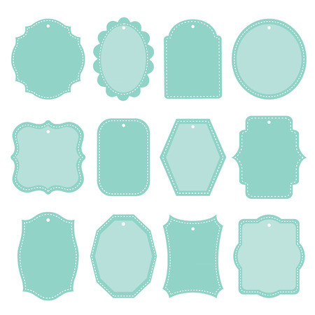 Blank frame and label mega set Vintage Retro Vector illustration Ilustracja