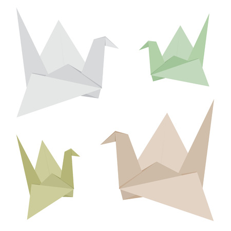 recycle paper: Origami Bird made from Recycle Paper Vector Design