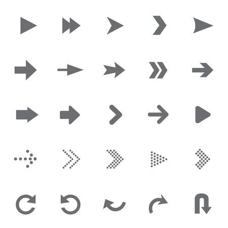 set van universele pijlen Vector illustratie
