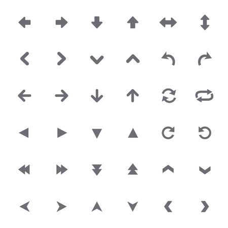 universal: set of universal arrows Vector illustration