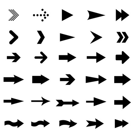 set of universal arrows Vector illustration