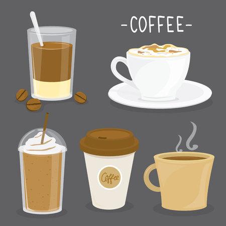 Coffee Cup Cartoon Vector Illustration