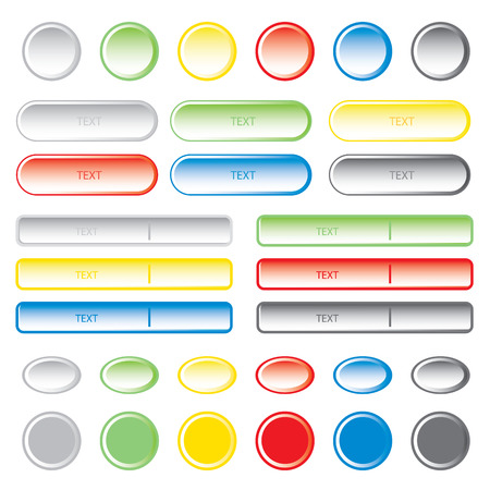web buttons: Blank web buttons. Vector illustration. Illustration