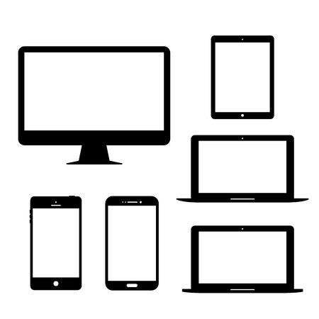 Écran d'ordinateur tablette portable Mobile Phone Gadgets électroniques Vecteur Icône
