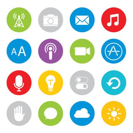 phone button: Touchscreen smart phone mobile application button icon Vector illustration Illustration