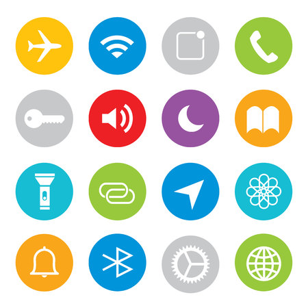 Touchscreen smart phone mobile application button icon Vector illustration Ilustrace