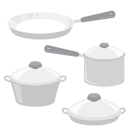 caldron: Equipment Tool Kitchen Cook Pot Saucepan Frying Pan Boiler Cartoon