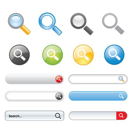 search button: Search button Icon Symbol design elements website Vector