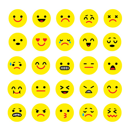 emotion: Vector icons of smiley faces emotion Cartoon Illustration