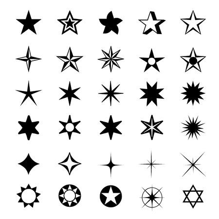star shapes: Star Shapes Symbol Icon Vector Illustration