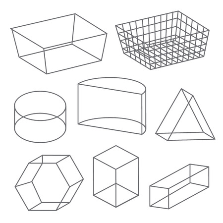 icosahedron: Polygon wireframe geometric shapes line Vector Icon