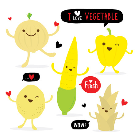 fresh vegetable: Vegetable food fresh cartoon