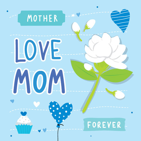 love mom: Happy Mothers Day Love Mom card flower