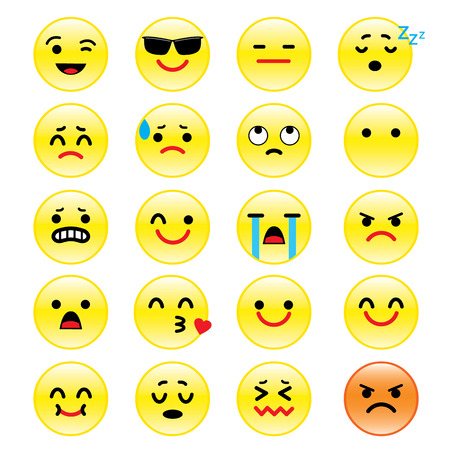 emotion faces: icons of smiley faces emotion Cartoon