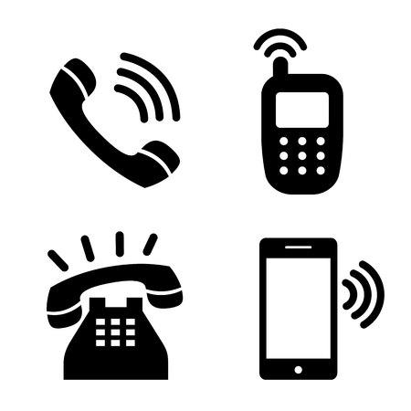telephone: Icon phone simple telephone communication vector illustration