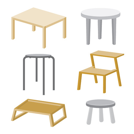 wood chair: Table Chair Furniture Wood Vector Design