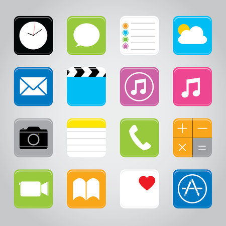 Touchscreen smart phone mobile application buttons