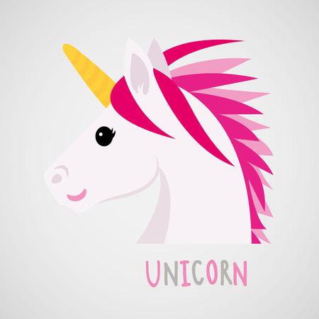 Unicorns cute dream fantasy cartoon character vector illustration. Illustration