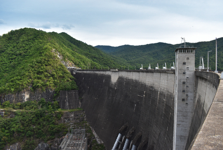 The Power of Bhumibol dam at Tak in Thailand.