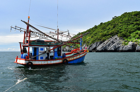 Fishing Boat on the sea ,Thailand