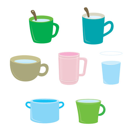 Set of coffee mugs isolated on background Stok Fotoğraf - 120137820