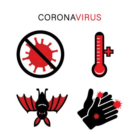Coronavirus Icon Vector for Infographic. CoV-2019 prevention, coronavirus symptoms.