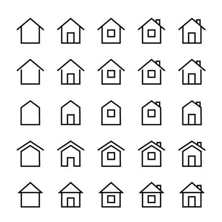 Home icon. vector flat illustration