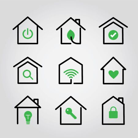Stay at Home icon vector flat illustration. Coronavirus, COVID 19 Quarantine and protection logo.