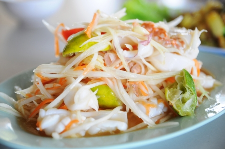 Seafood papaya salad photo