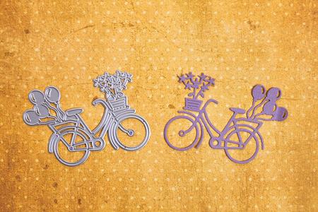 Scarpbooking die-cutter bike shape Stock Photo