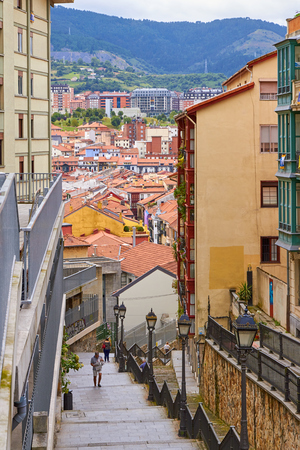BILBAO, SPAIN, CIRCA AUGUST 2018, street descent Editorial