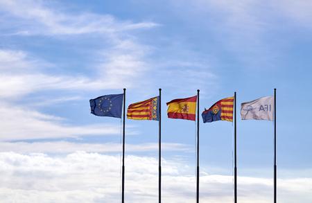 europe spain alicante ifa flags