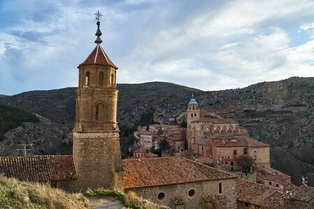 Church from albarracin in teruel in the afternoon
