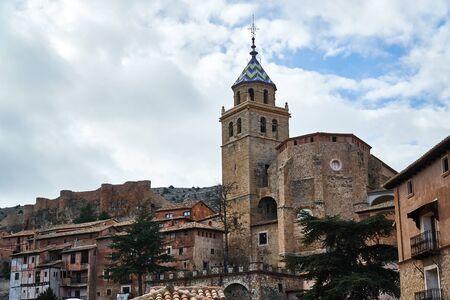 Church from albarracin town in teruel Imagens