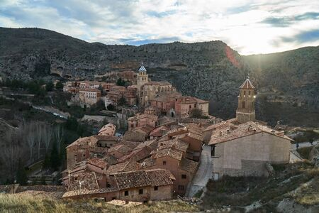 town of albarracin teruel in the afternoon Imagens