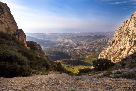 mountain valley in alicante, spain