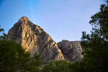Ming Campana in Alicante, Spain mountaing peak