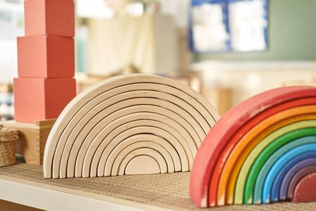 Waldorf rainbow and semicircle toy