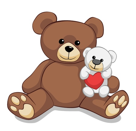two lovely teddy bears photo