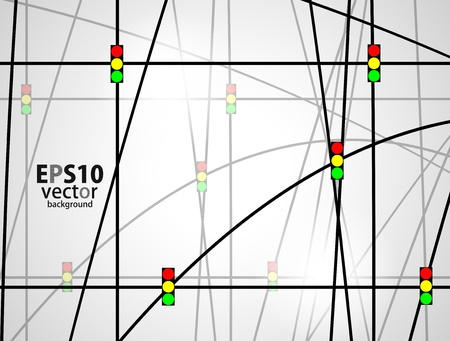 traffic light background Stock Vector - 17131610